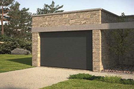 Pose de portes de garage sur mesure alu pvc acier bois - Porte garage pliante alu ...
